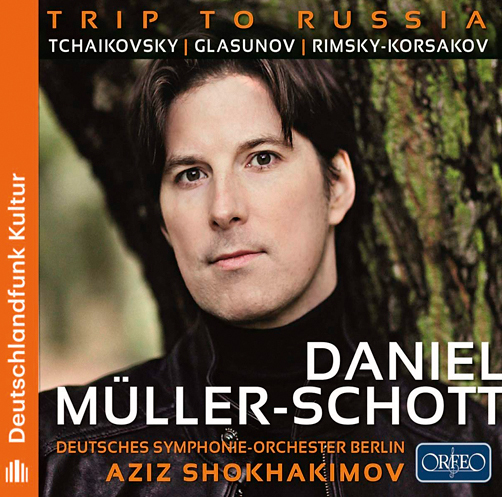 Daniel Müller-Schott <br>«Trip to Russia»: Tchaikovsky, Glasunov, Rimsky-Korsakov  <br>Aziz Shokhakimov, Deutsches Symphonie-Orchester Berlin  <br>Orfeo  <br>CD