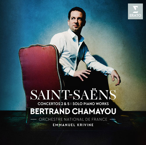 Saint-Saёns. Concertos 2&5. Solo piano works <br>Bertrand Chamayou. Orchestre National de France. EmmanuelKrivine <br>Erato CD