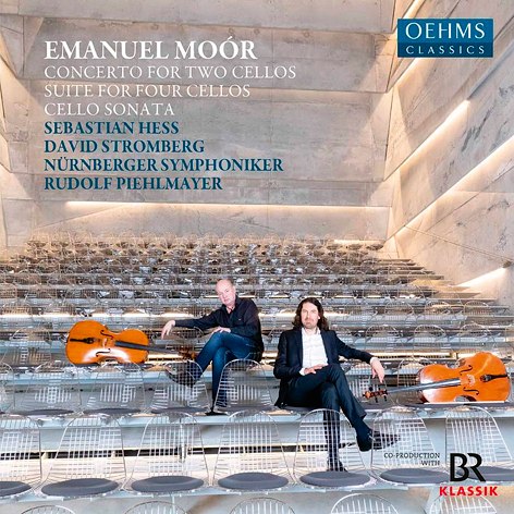 Emanuel Moór <br>Concerto for two cellos. Suite for four cellos. Cello Sonata <br>Sebastian Hess. David Stromberg <br>Nürnberger Symphoniker. Rudolf Piehlmayer <br>Oehms Classics