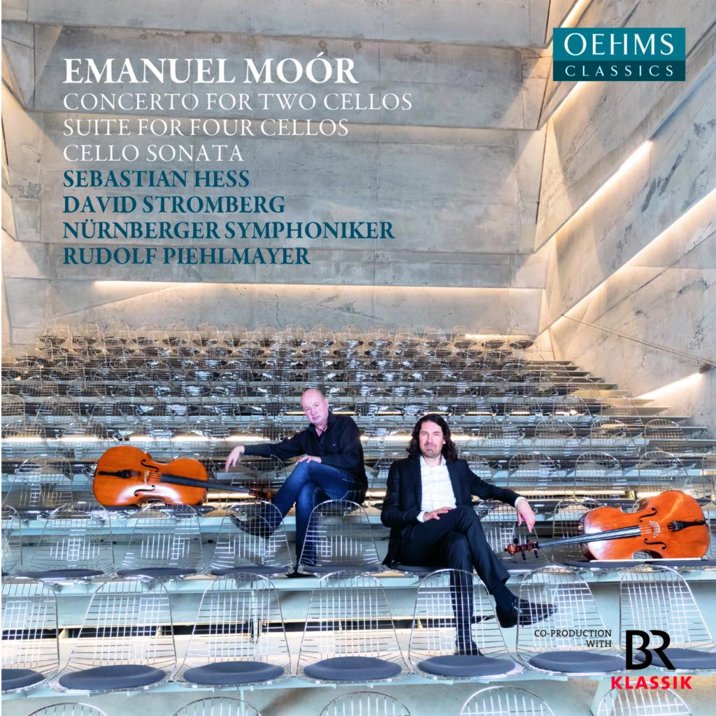 Emanuel Moór <br>Concerto for two cellos. Suite for four cellos. Cello Sonata <br>Sebastian Hess. David Stromberg <br>Nürnberger Symphoniker. Rudolf Piehlmayer <br>Oehms Classics