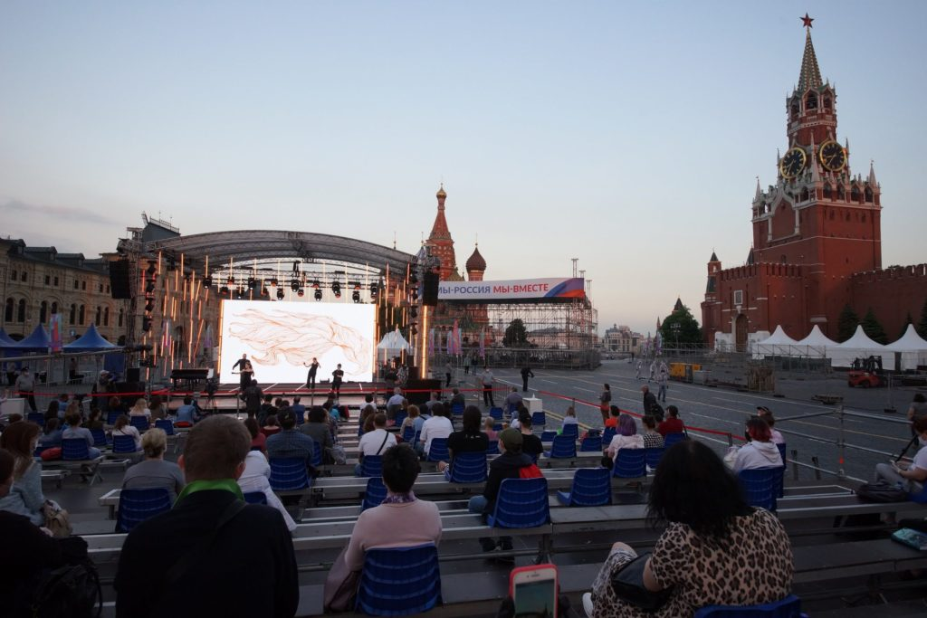 Пушкин, Ахматова и Бродский «вышли» на Красную площадь