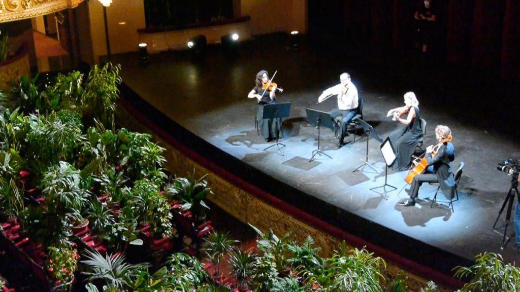 В Барселонском оперном театре сыграли концерт для растений